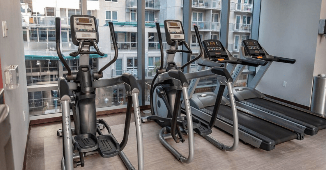 Gym at Allegro Towers, San Diego