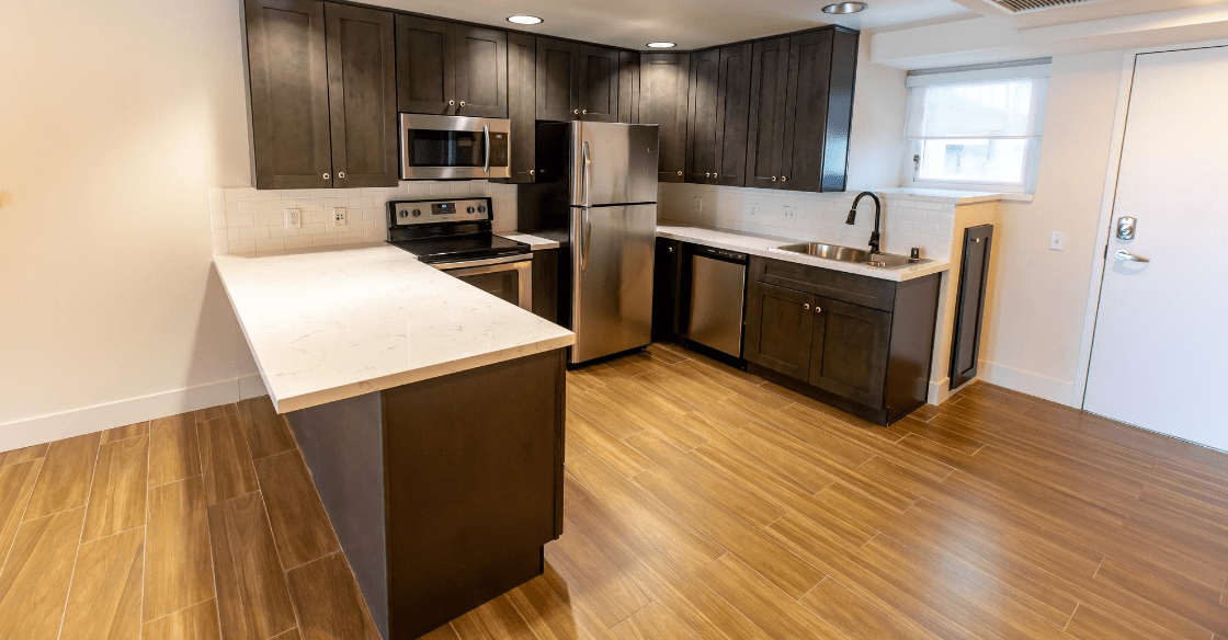 High end kitchen finishes at Allegro