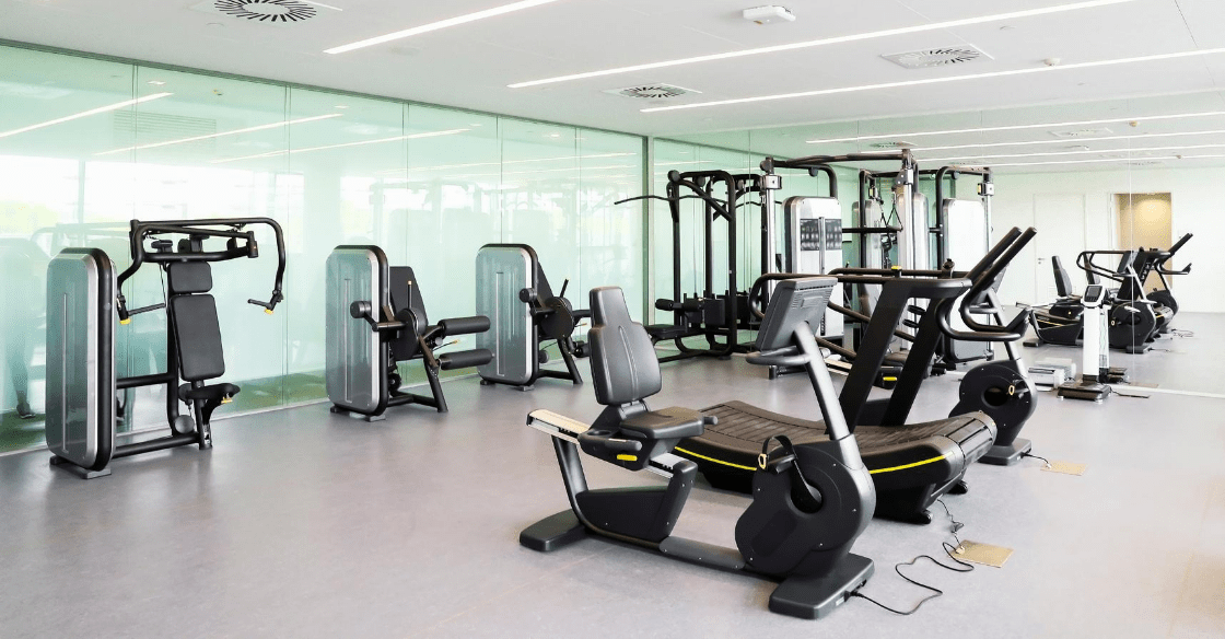Luxury apartment gym