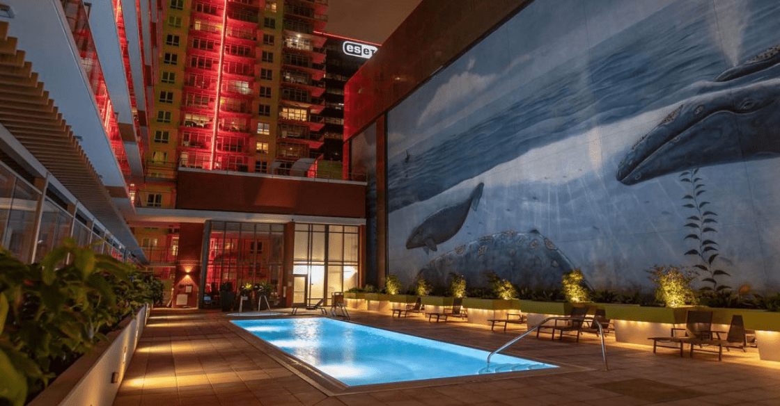 Ariel Apartment Pool