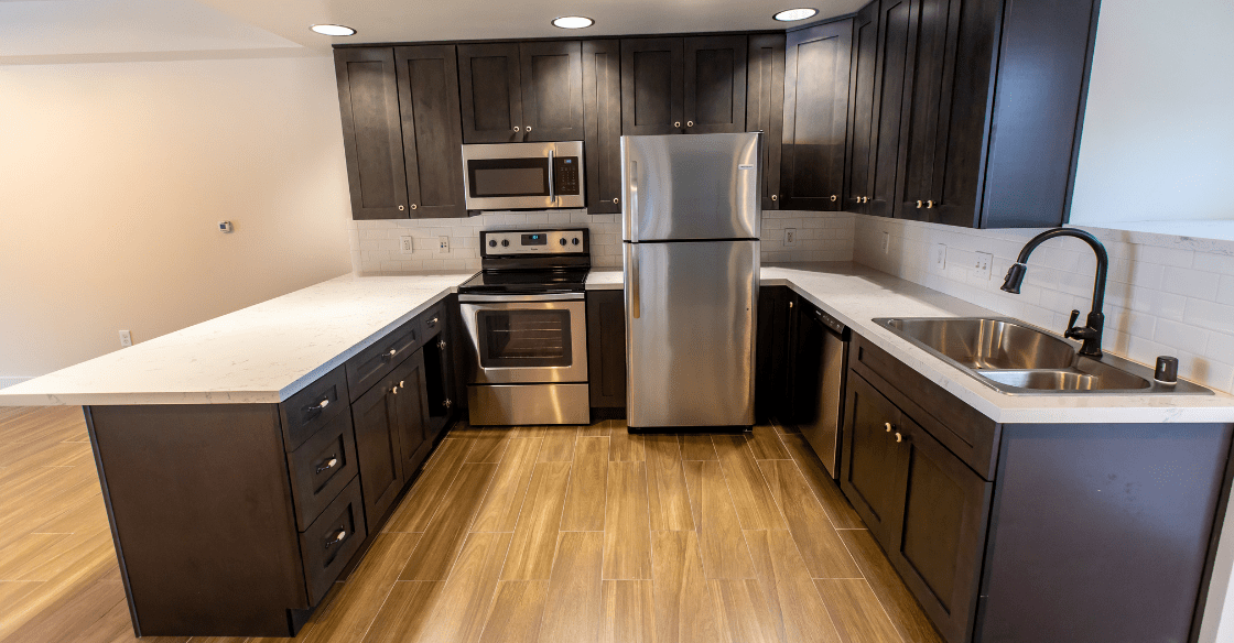 High-end kitchen finishes at Allegro Towers