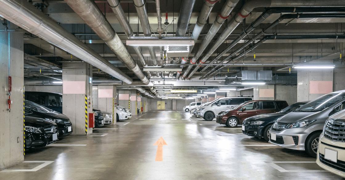 Apartment parking garage