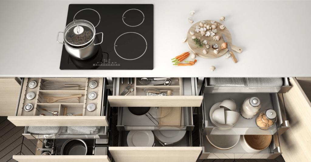 Organized kitchen storage