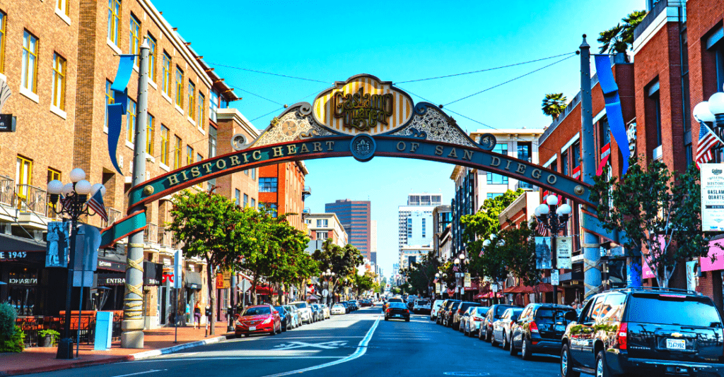 Gaslamp District, downtown San Diego